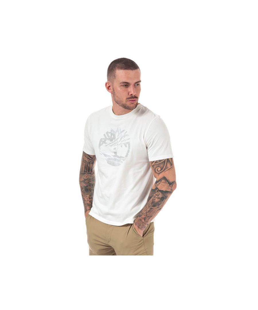 Image for Men's Timberland Kennebec River Tree Logo T-Shirt in White