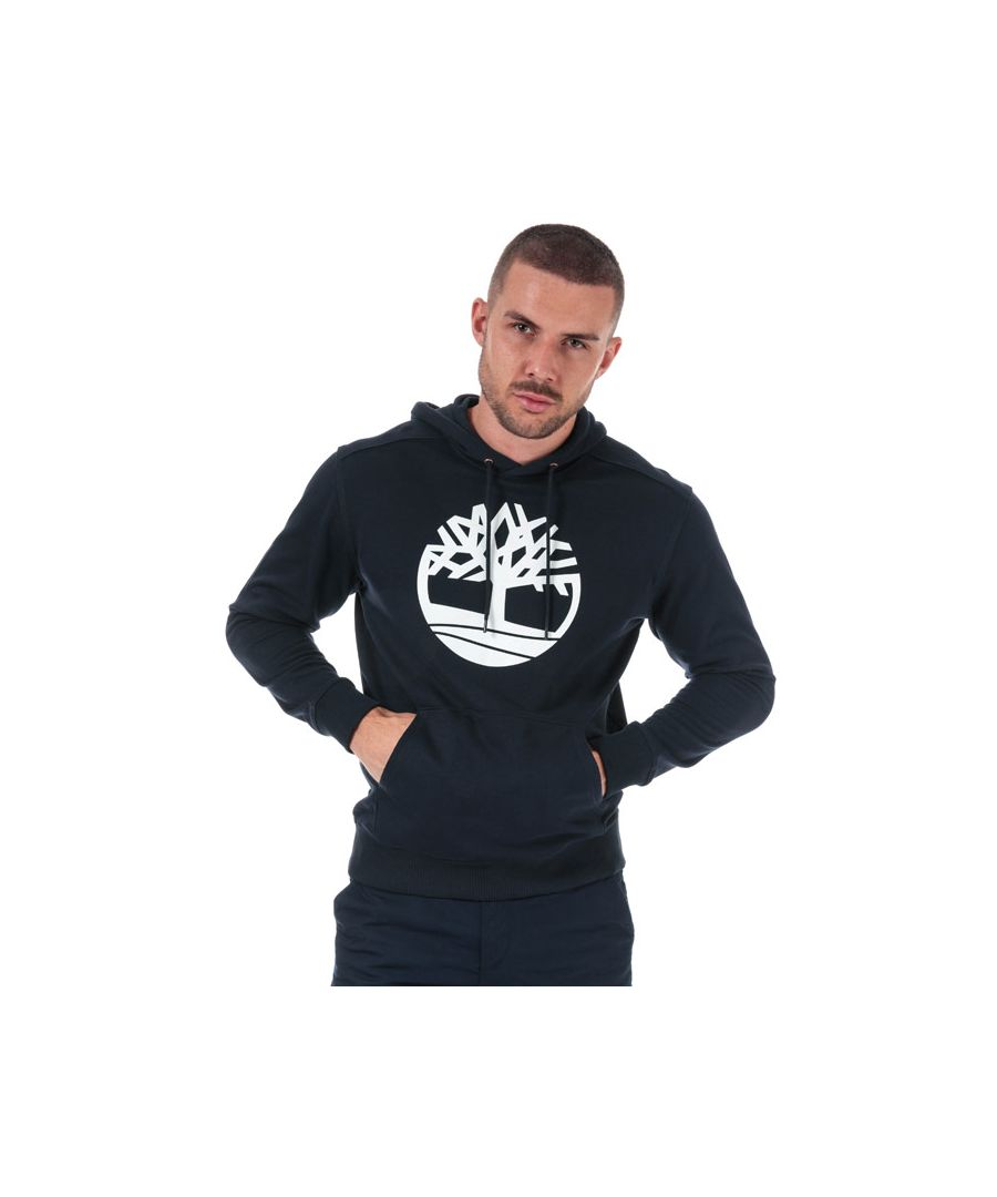 Image for Men's Timberland Core Logo Tree Hoody in Navy