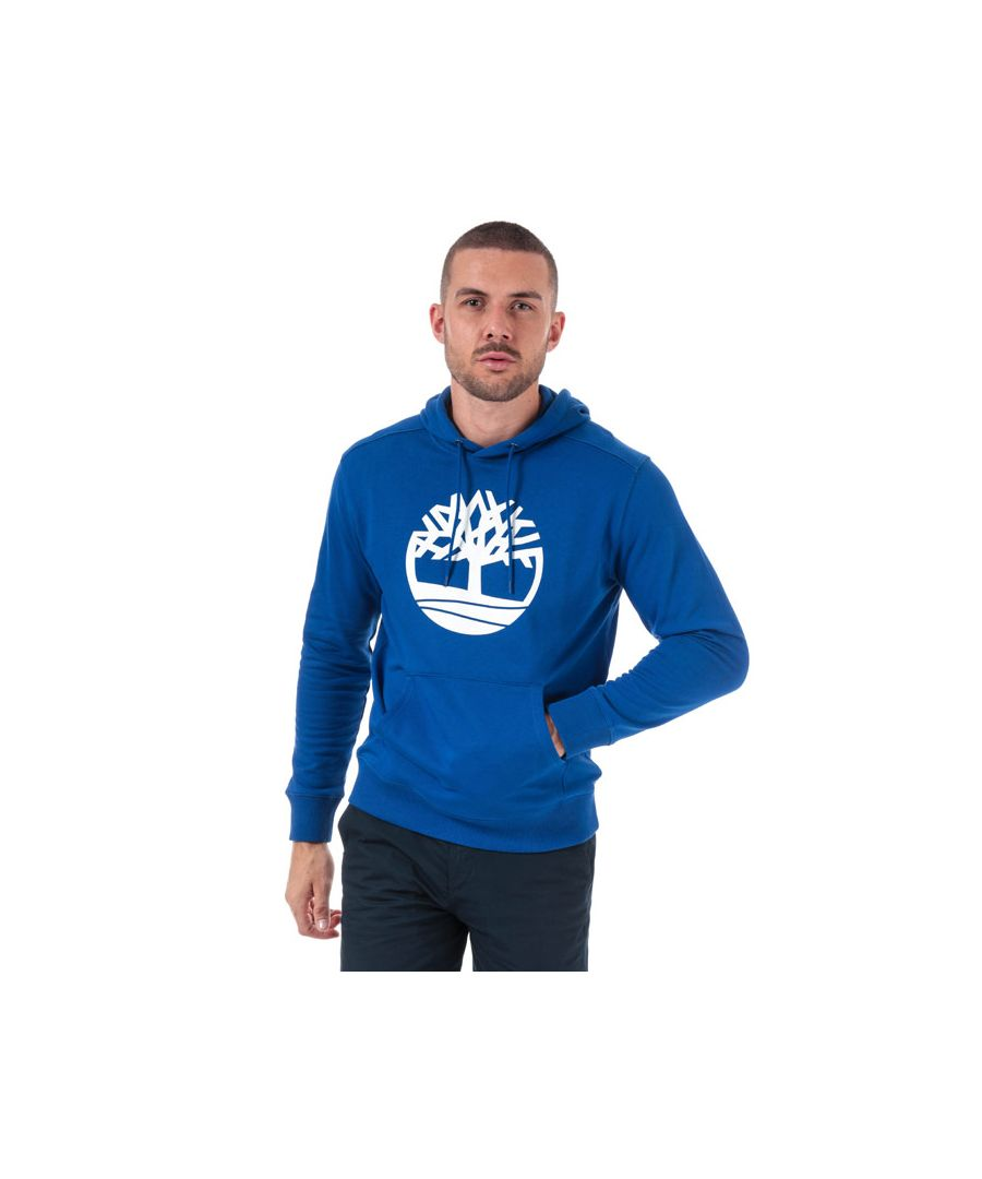 Image for Men's Timberland Core Logo Tree Hoody in Blue