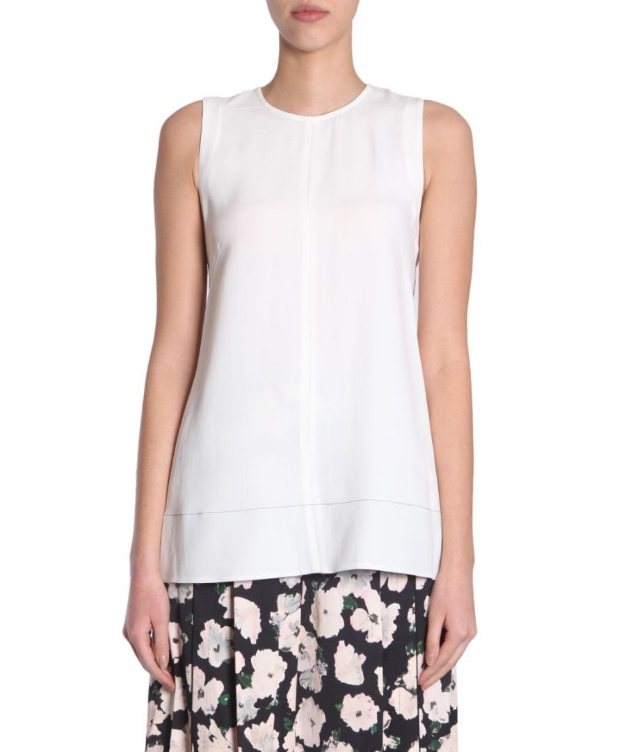 Image for PROENZA SCHOULER WOMEN'S R181419AY011M00100 WHITE ACETATE TANK TOP