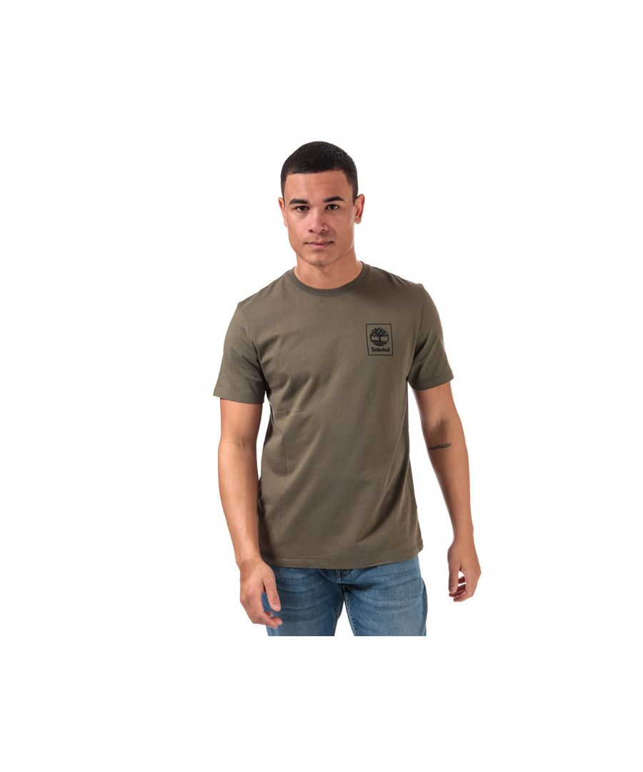 Image for Men's Timberland Back Logo Camo T-Shirt in Khaki