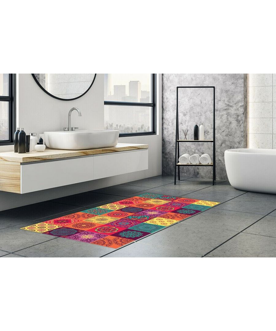 Image for Colourful Mandala Tiles Rug Mat 120cm x 60 cm  Floor Mats, Floor Rugs
