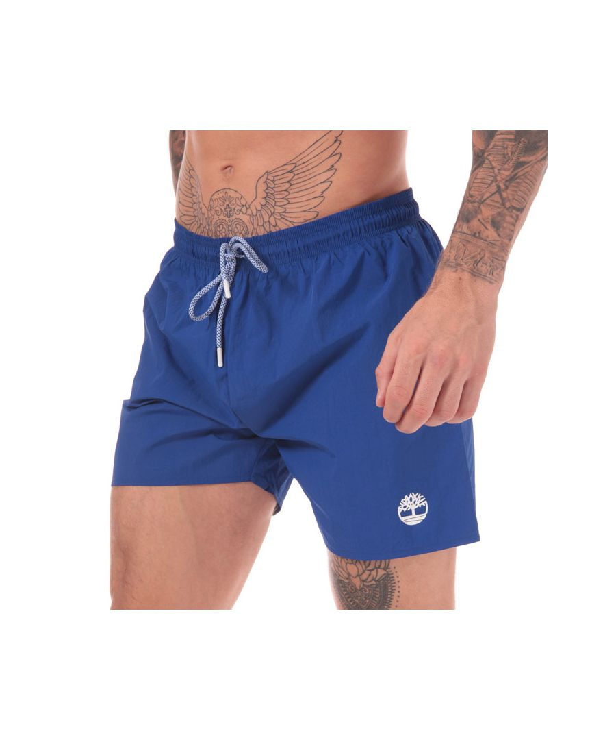 Image for Men's Timberland Sunapee Lake Solid Swim Shorts in Blue