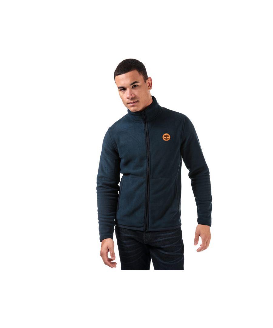 Image for Men's Timberland Full Zip Fleece Layered Jacket in Navy