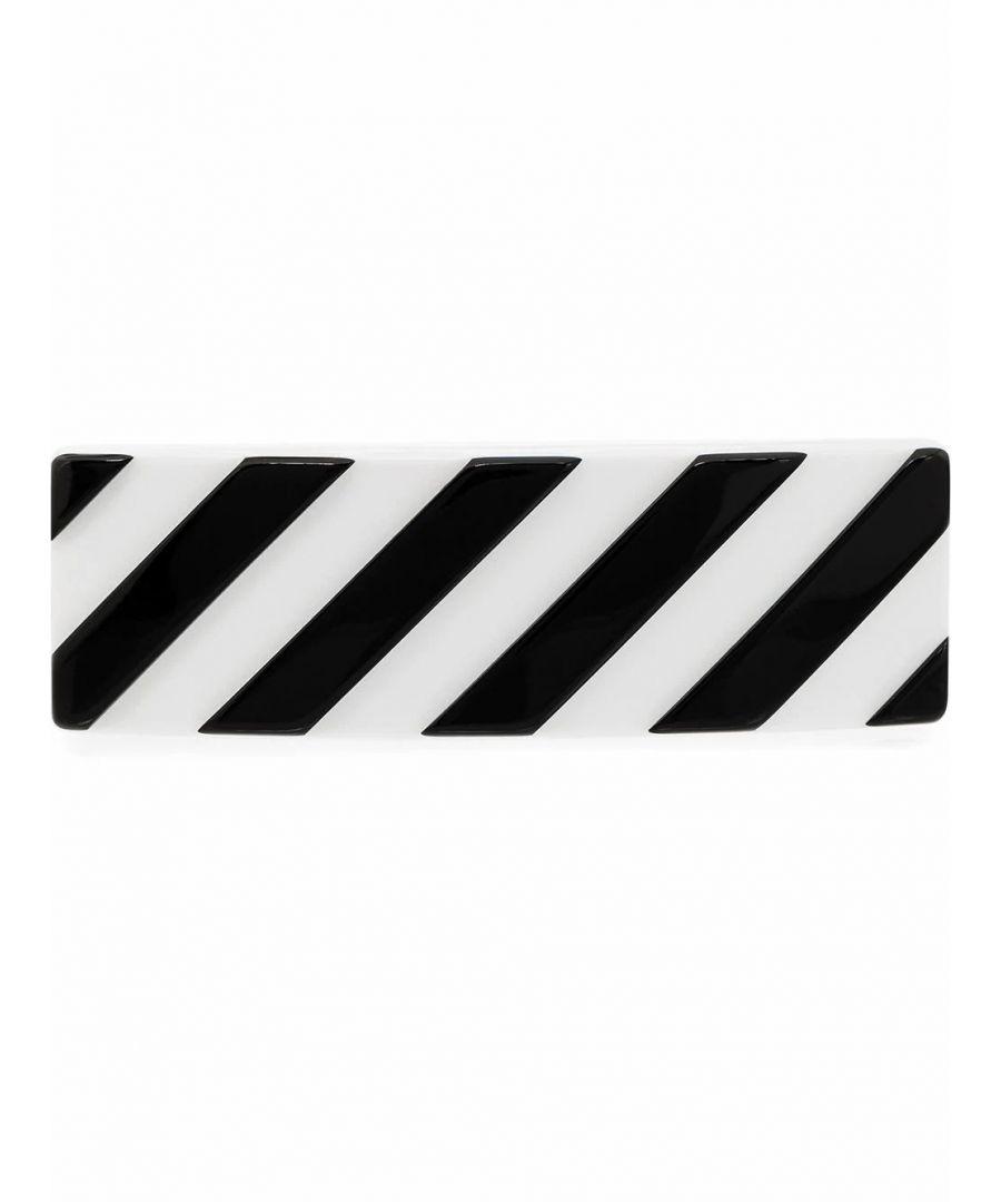 Image for OFF-WHITE WOMEN'S OWZG025S20PLA0010110 WHITE PVC HAIR CLIP