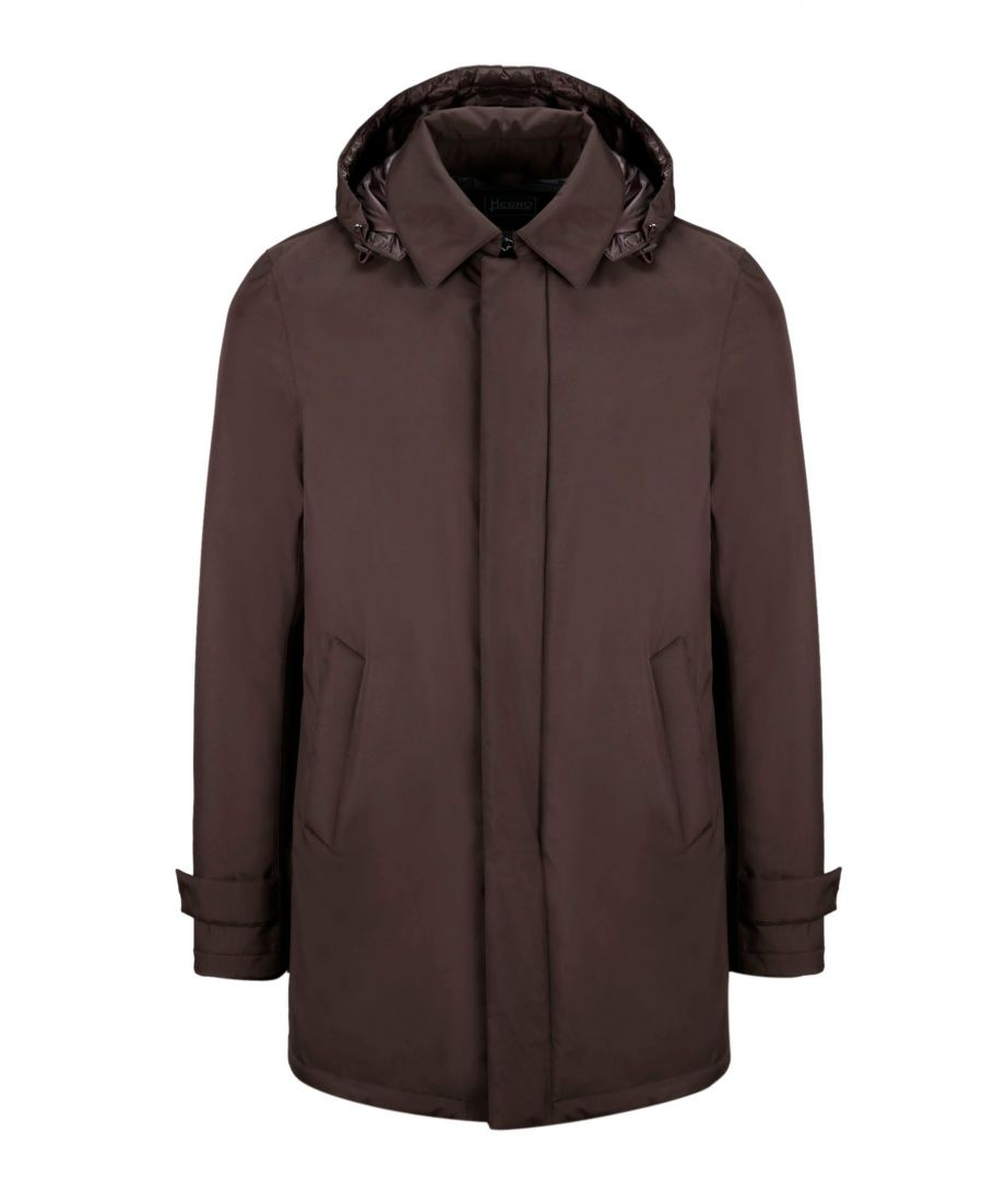 Image for HERNO MEN'S PI107UL111218990 BROWN POLYESTER OUTERWEAR JACKET