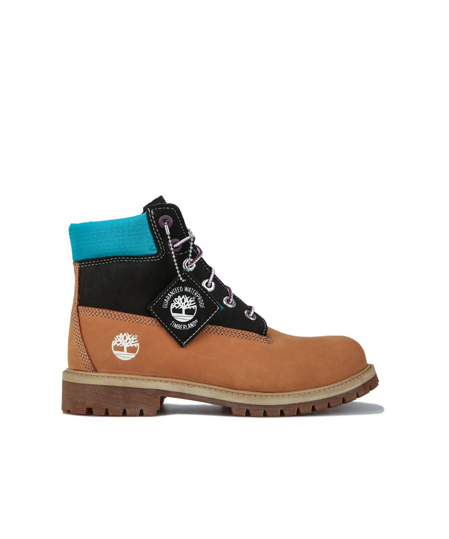Image for Boy's Timberland Junior 6 Inch Premium Boots in Wheat
