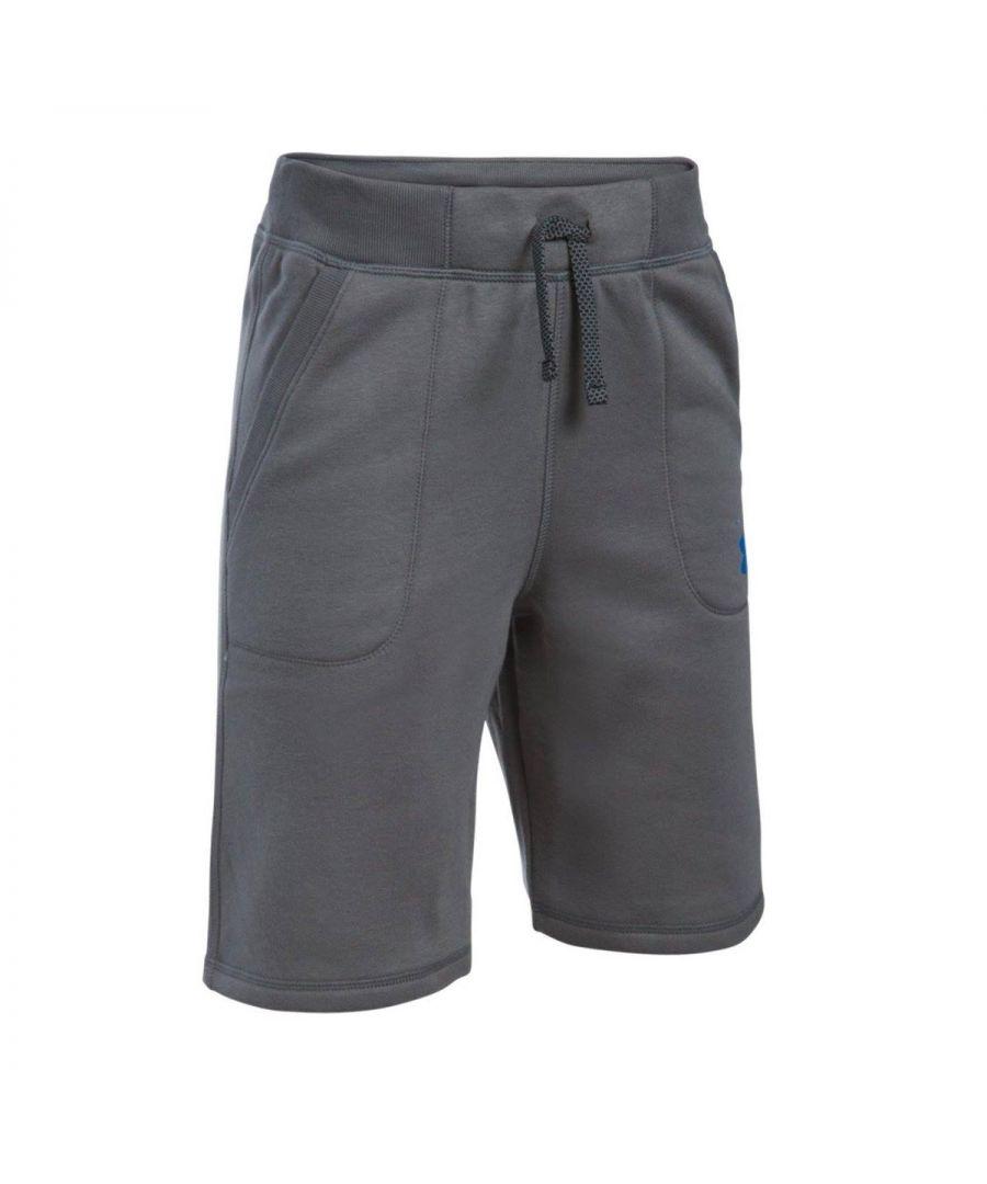 Image for Under Armour Titan Fleece Kids Short Grey - YM