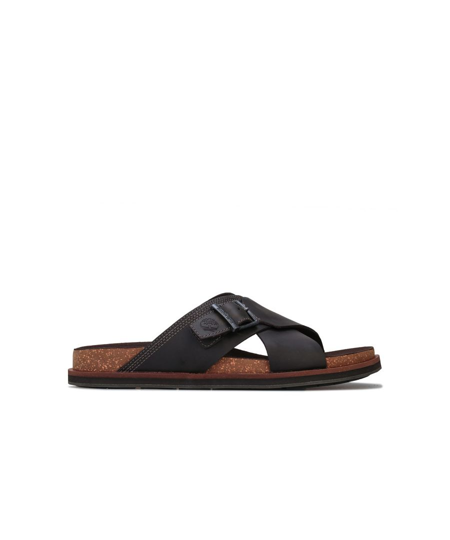 Image for Men's Timberland Amalfi Vibes Cross Slides in Grey