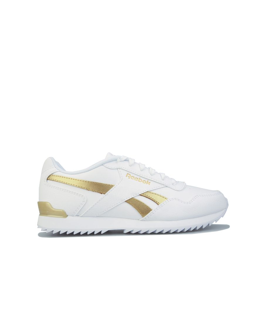 Image for Women's Reebok Classics Royal Glide Ripple Clip Trainers in White gold