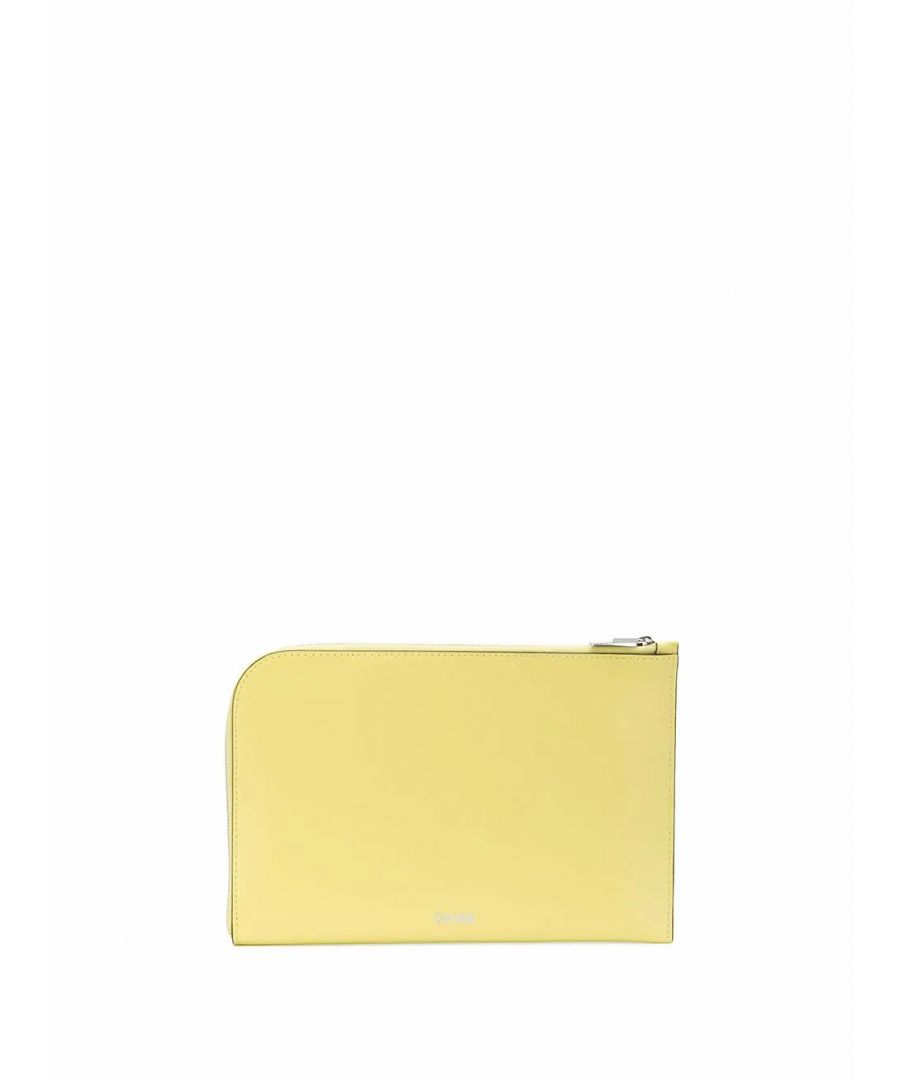 Image for GANNI WOMEN'S A2167336 YELLOW LEATHER POUCH