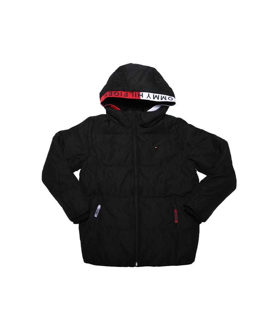 Image for Boy's Tommy Hilfiger Junior Essential Padded Jacket in Black