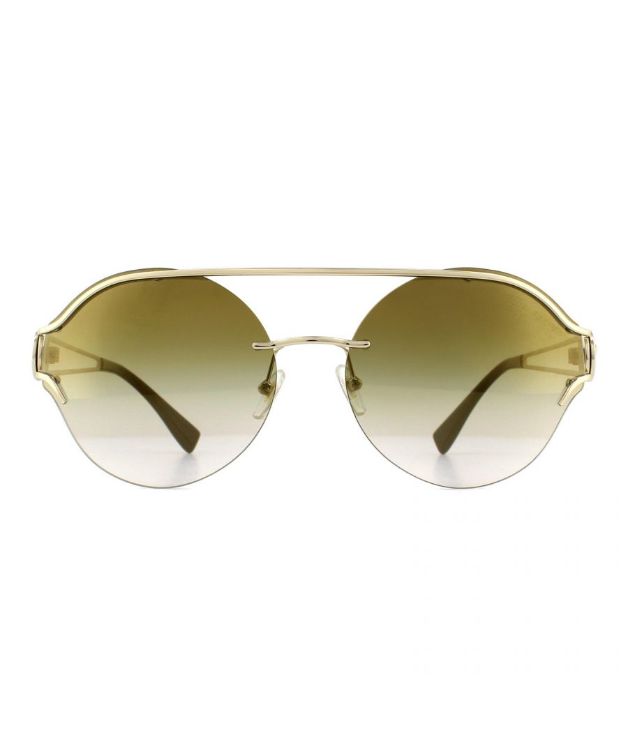 Image for Versace Sunglasses VE2184 12526U Pale Gold Gradient Brown Mirror Gold