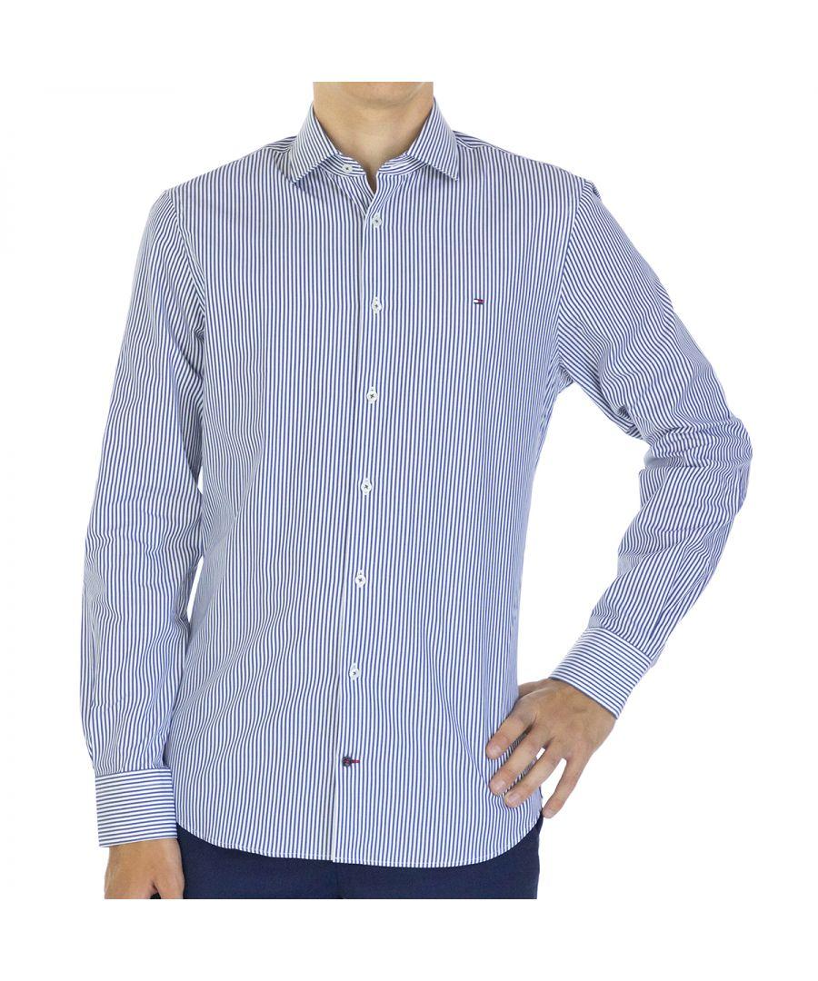 Image for Tommy Hilfiger Men Shirt Poplin Slim Fit  Full sleeve Multicolor