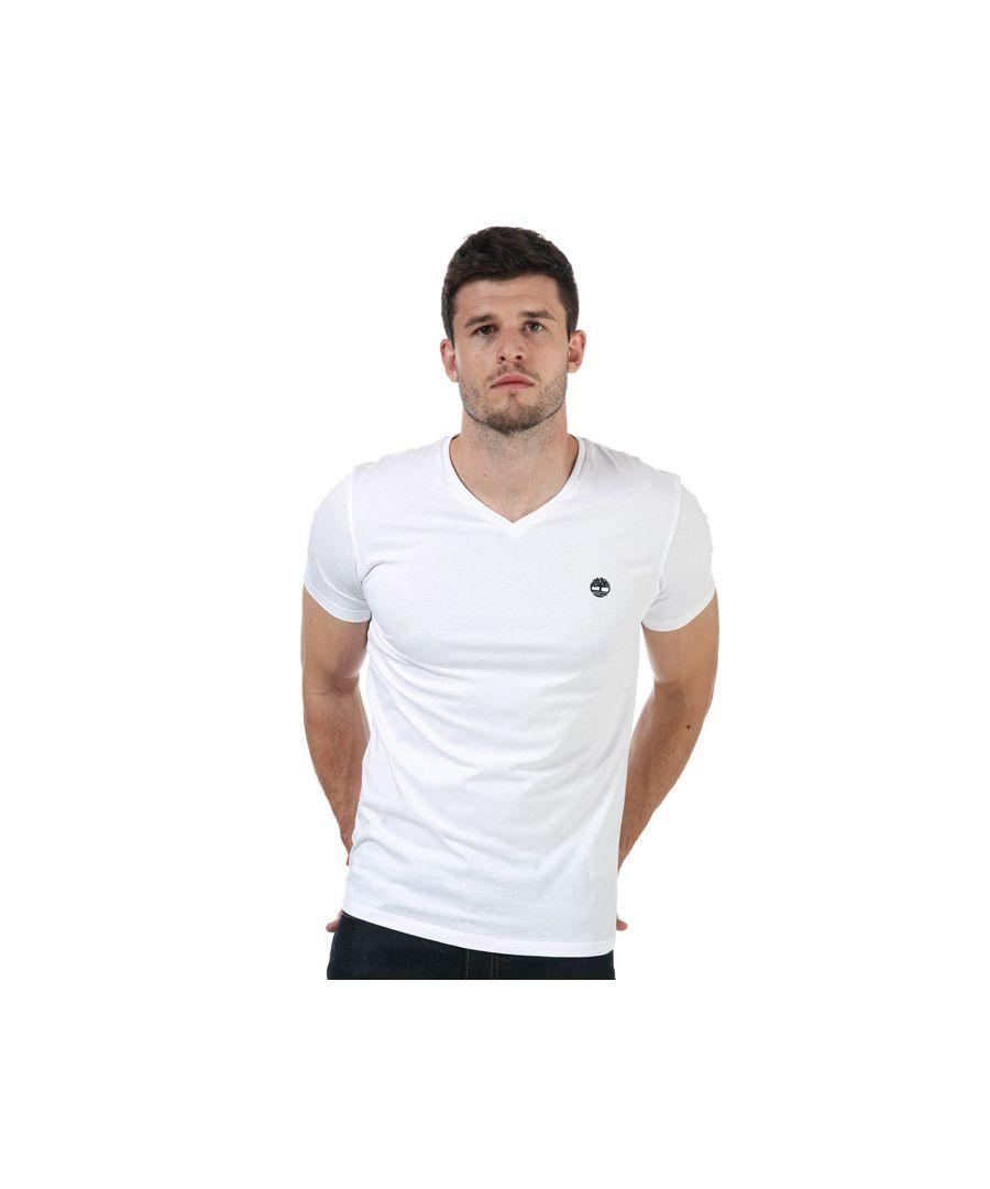 Image for Men's Timberland V-Neck Slim T-Shirt in White