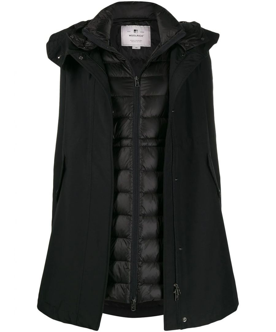 Image for WOOLRICH WOMEN'S WWCPS2804UT0001BLK BLACK COTTON DOWN JACKET