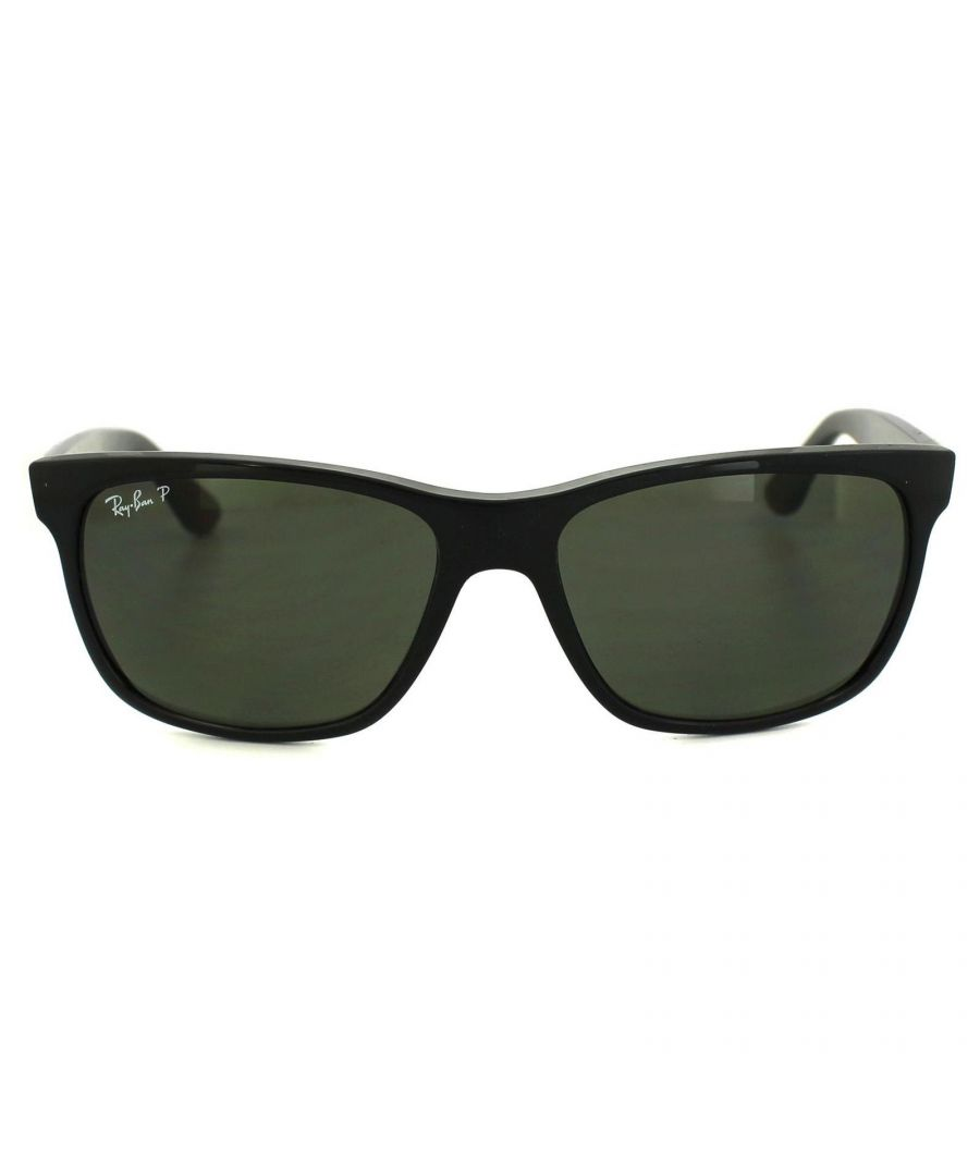 Image for Ray-Ban Sunglasses 4181 601/9A Black Polarized Green