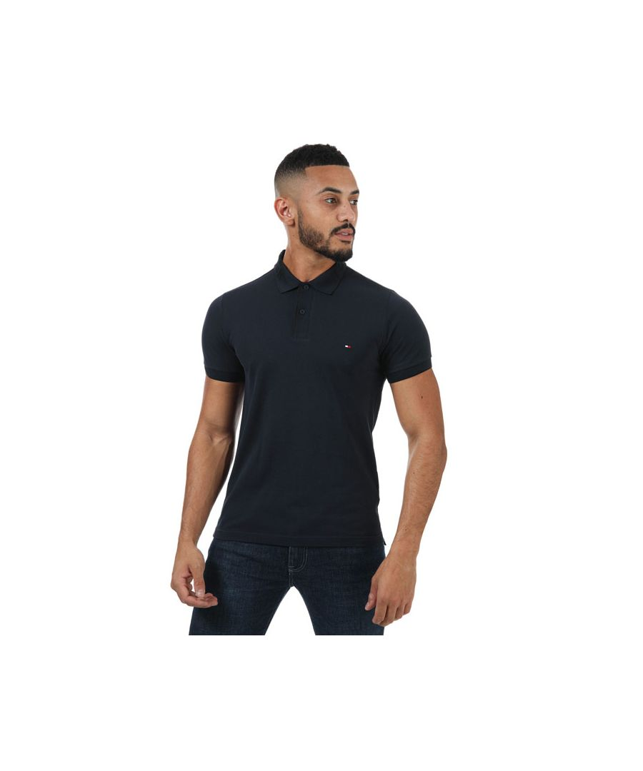 Image for Men's Tommy Hilfiger Textured Collar Polo Shirt in Navy