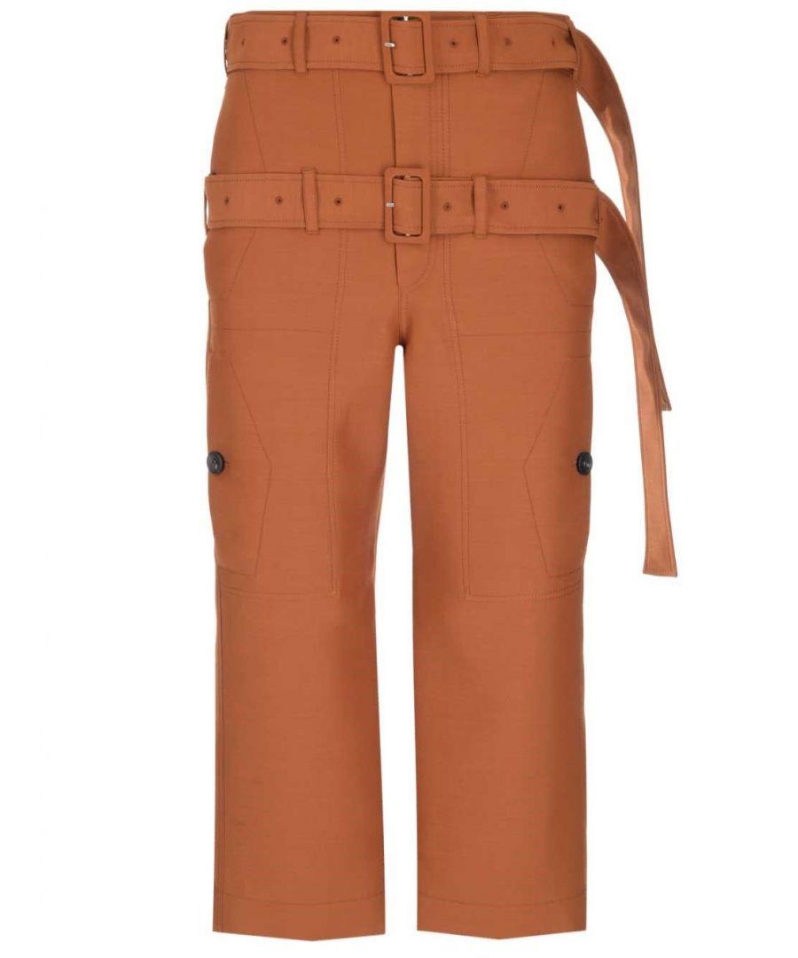 Image for LANVIN WOMEN'S RWTR501U4247H1966 ORANGE WOOL PANTS