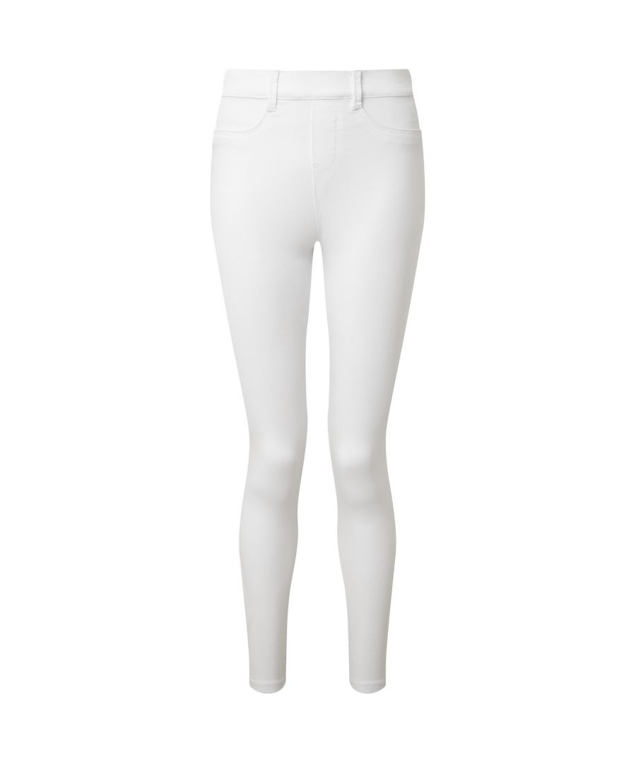 Image for Asquith & Fox Womens/Ladies Classic Fit Jeggings (White)