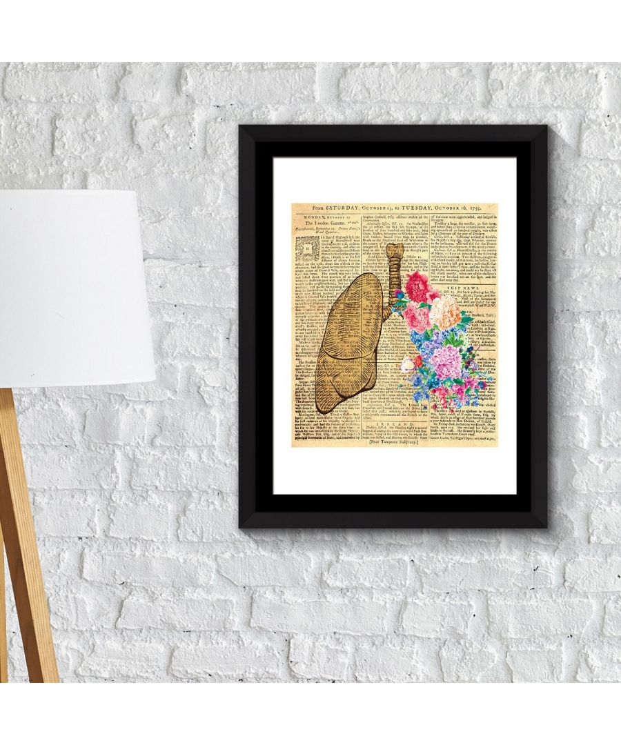 Image for Walplus Framed Art 2in1 Flowery Lung Poster wall decal, wall decal flowers, Framed Photo, Framed Art