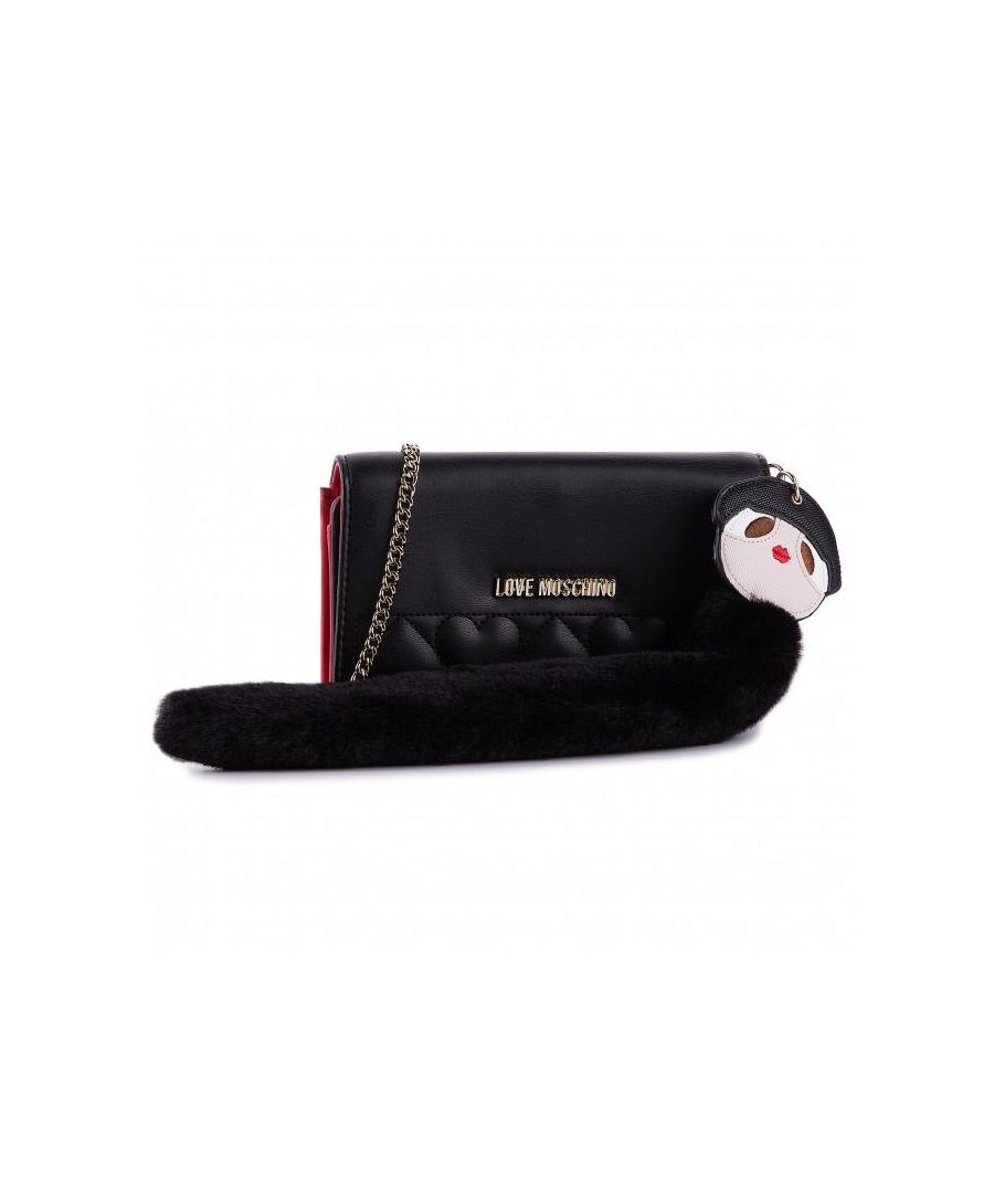 Image for Love Moschino Quilted Wallet with Charm in Black