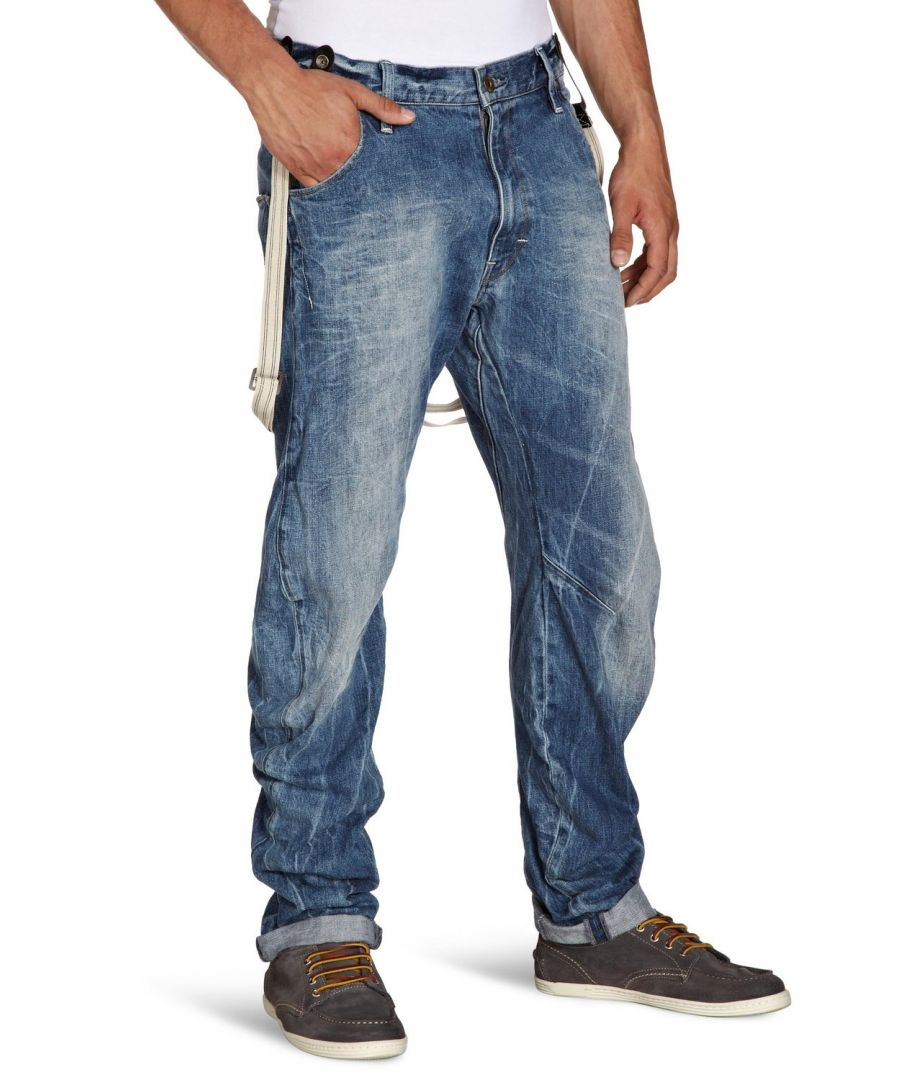 Image for G-Star Arc 3D Tapered Braces Aged Wash Oligo Denim Jeans