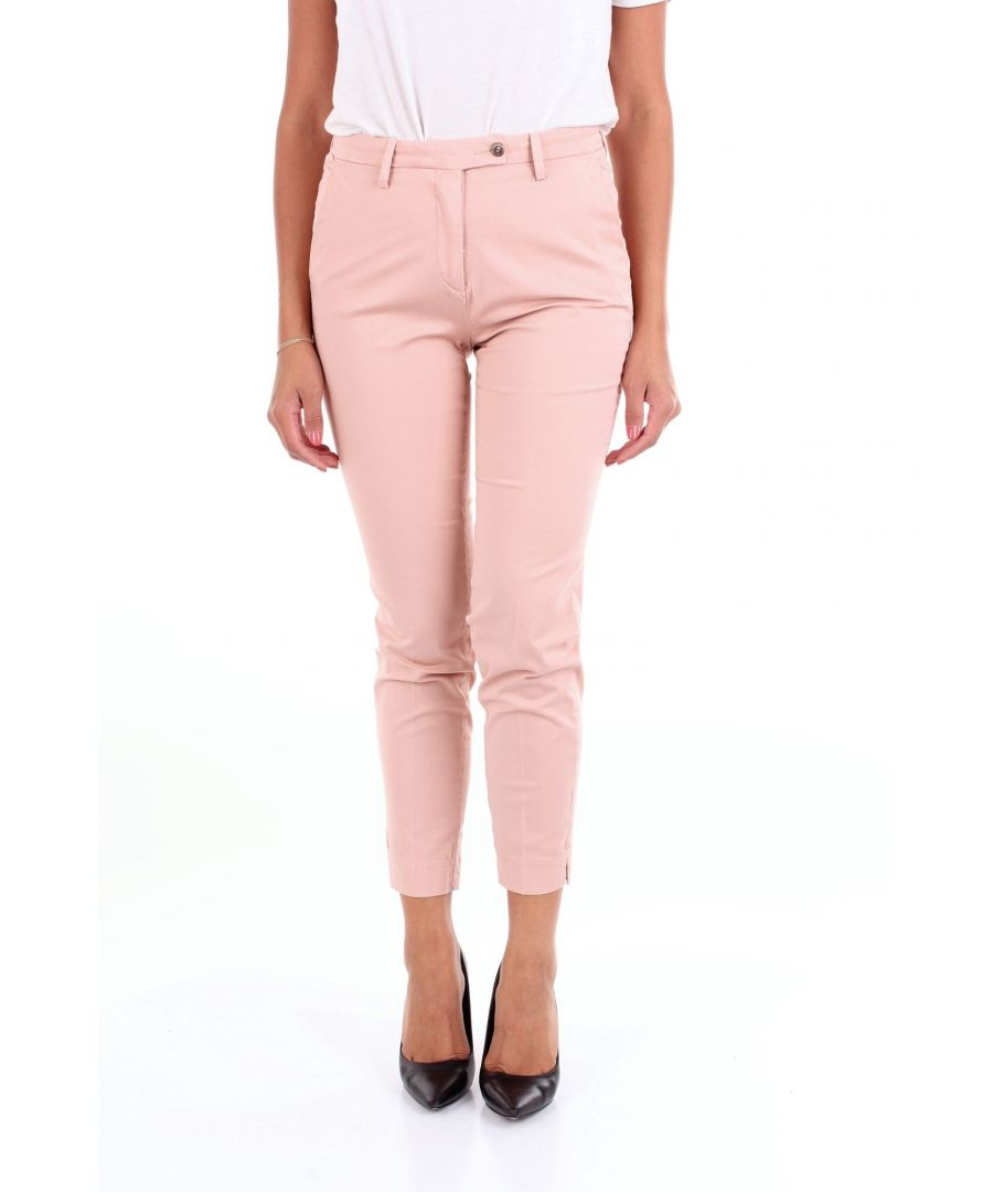 Image for MICHAEL COAL WOMEN'S JANIS2608CIPRIA PINK COTTON PANTS