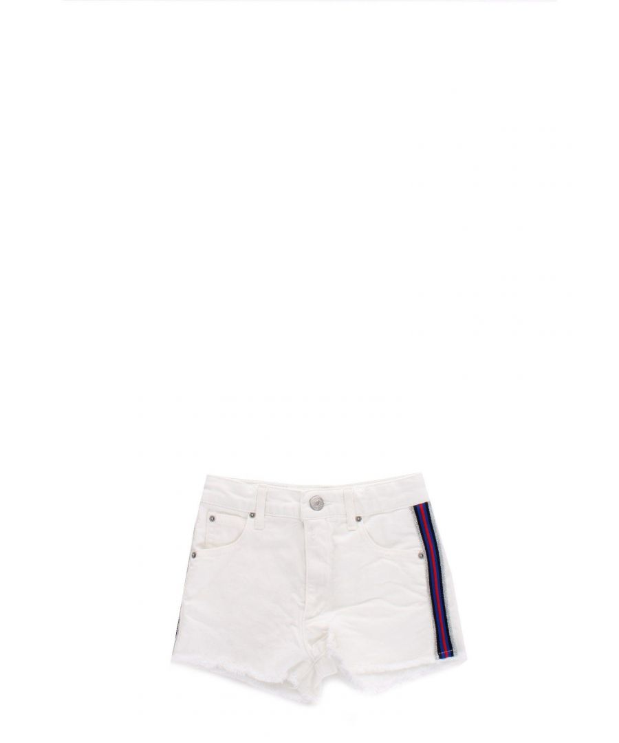Image for REPLAY GIRLS SG95940508005201001 WHITE COTTON SHORTS