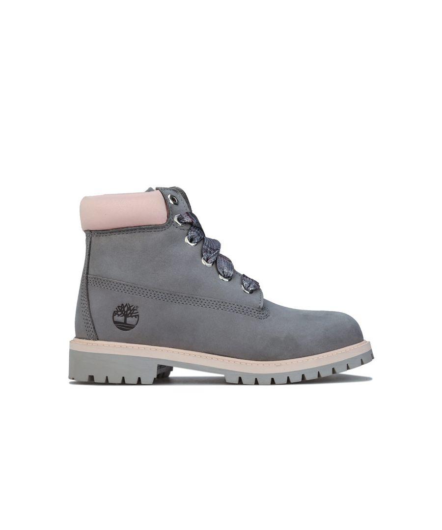 Image for Girl's Timberland Junior 6 Inch Premium Waterproof Boot in Grey