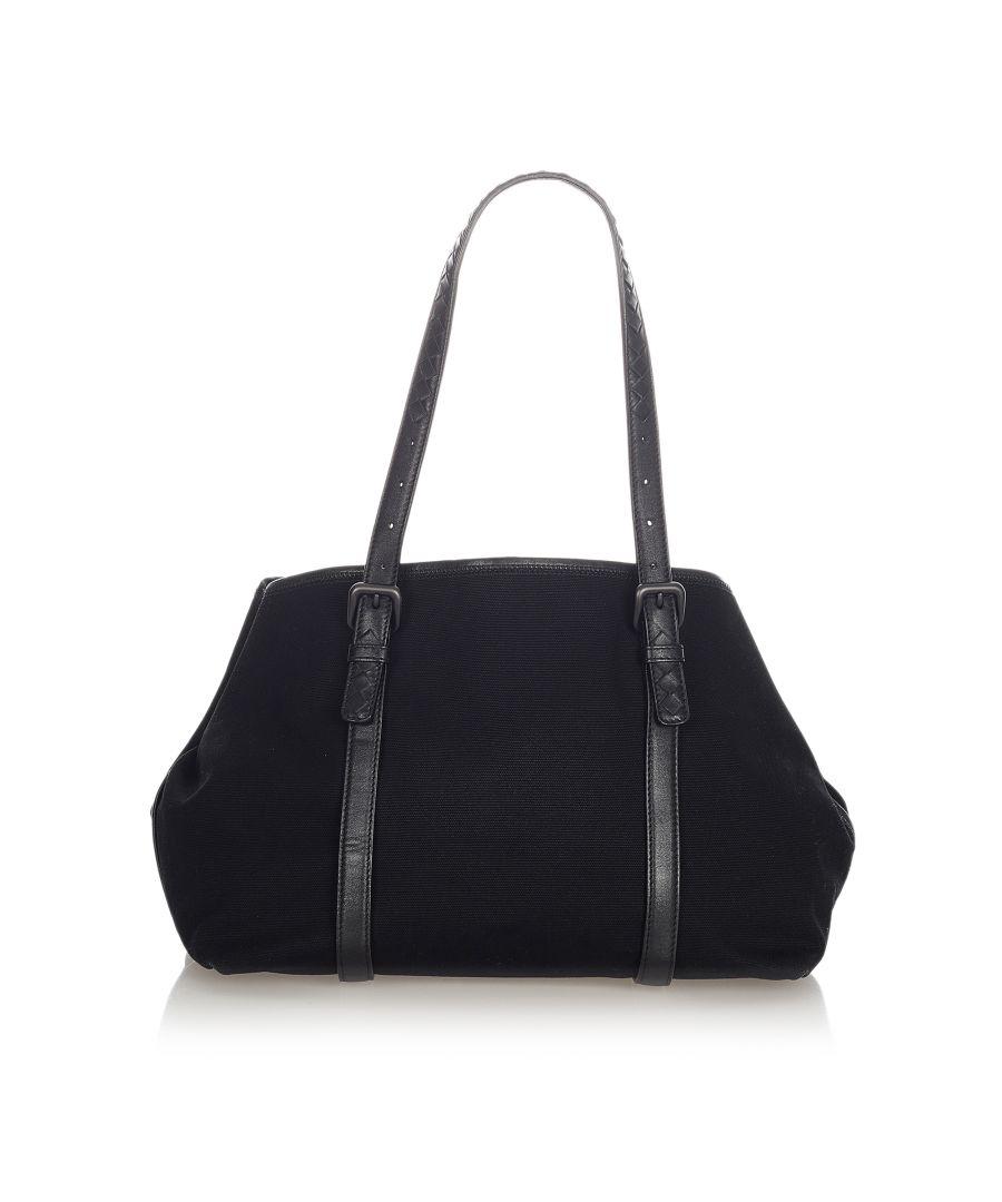 Image for Vintage Bottega Veneta Canvas Tote Bag Black