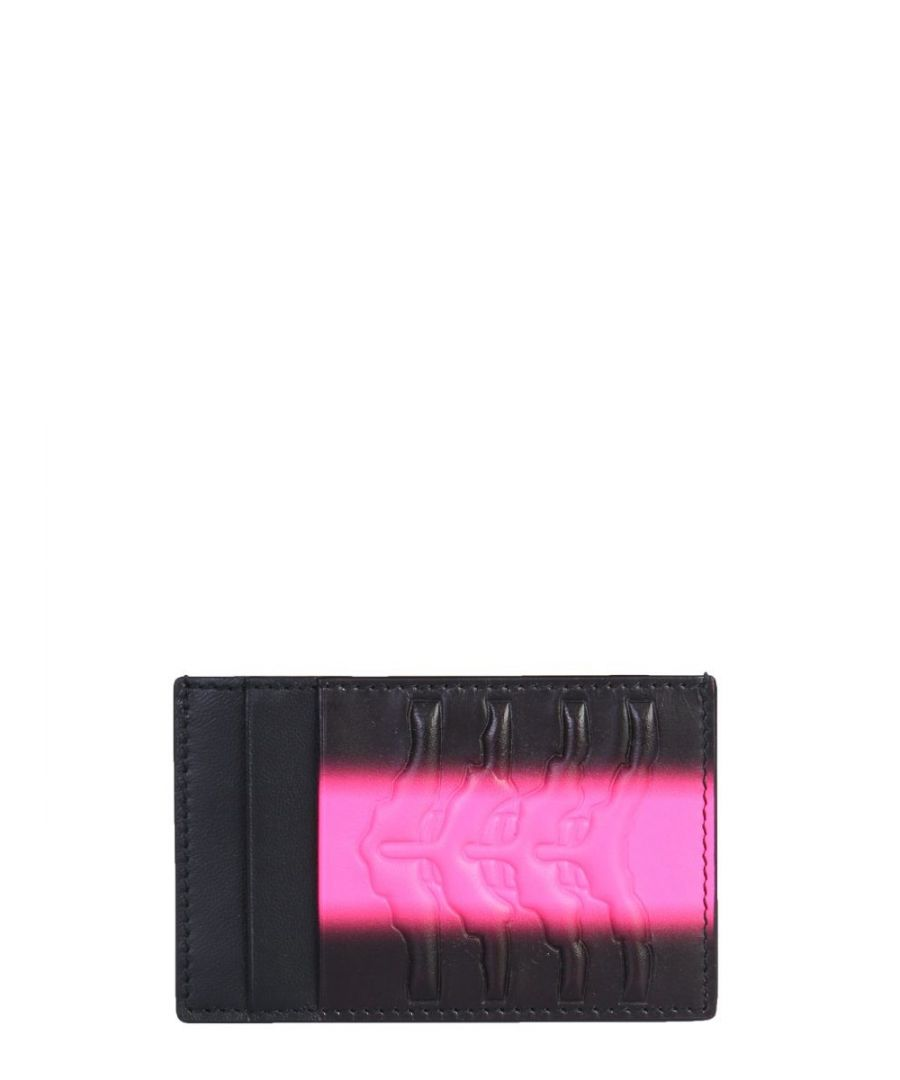 Image for ALEXANDER MCQUEEN MEN'S 6021441T61B1099 BLACK LEATHER CARD HOLDER