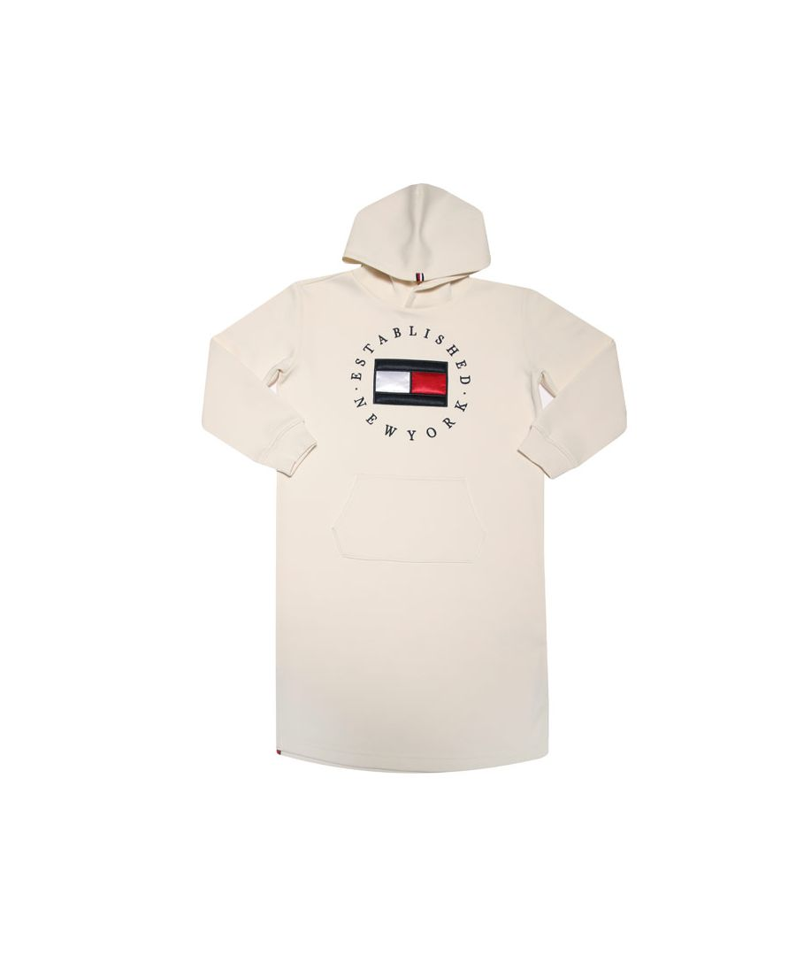 Image for Girls' Tommy Hilfiger Infant Heritage Hoodie Dress in Ivory