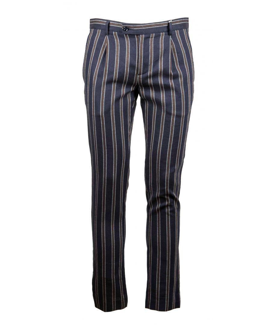 Image for DANIELE ALESSANDRINI MEN'S P3513S2151390023 BLUE COTTON PANTS
