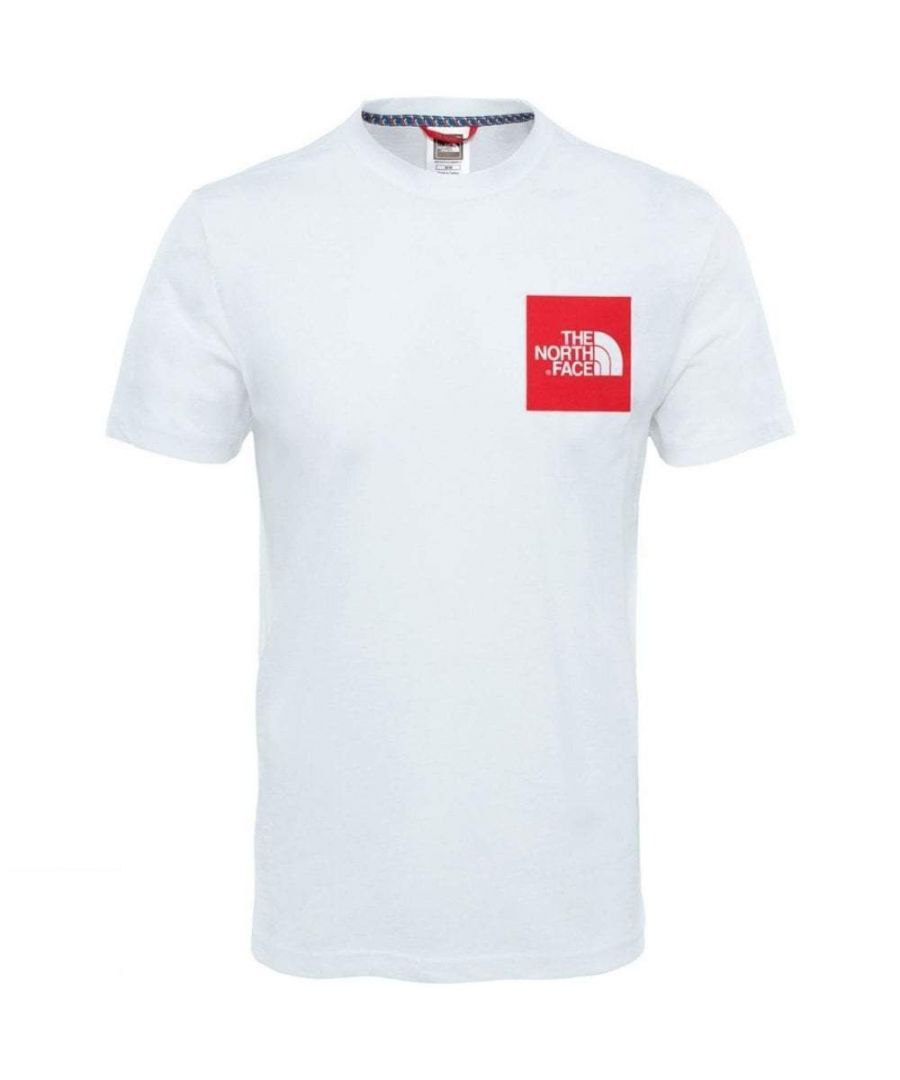 Image for The North Face Short Sleeve Fine T-Shirt, TNF White/Red