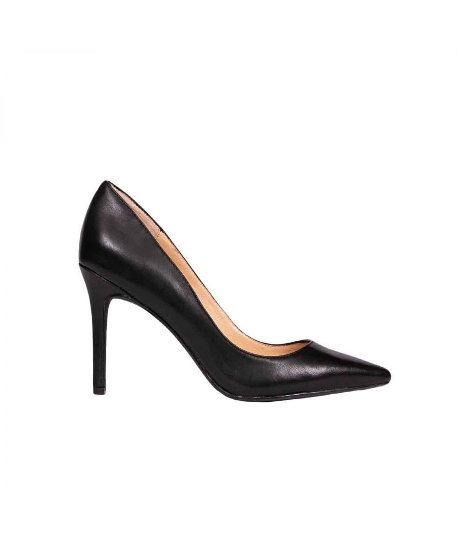 Image for KENDALL + KYLIE WOMEN'S KKREESE20 BLACK LEATHER PUMPS