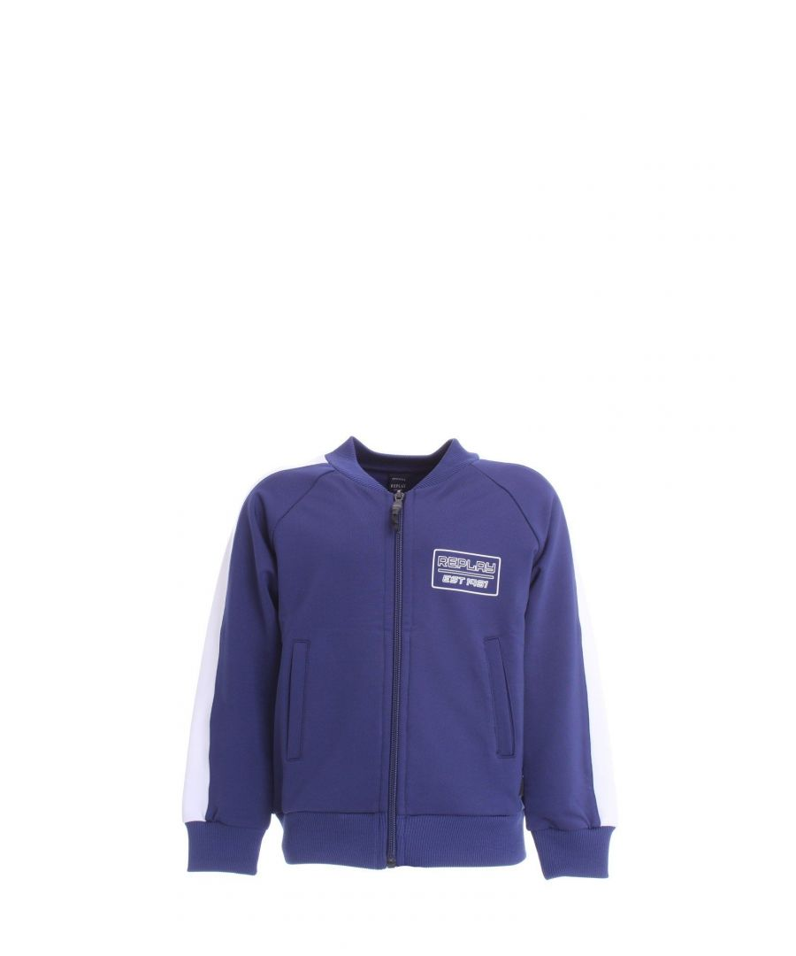 Image for REPLAY BOYS SB271405083682187 BLUE COTTON SWEATSHIRT