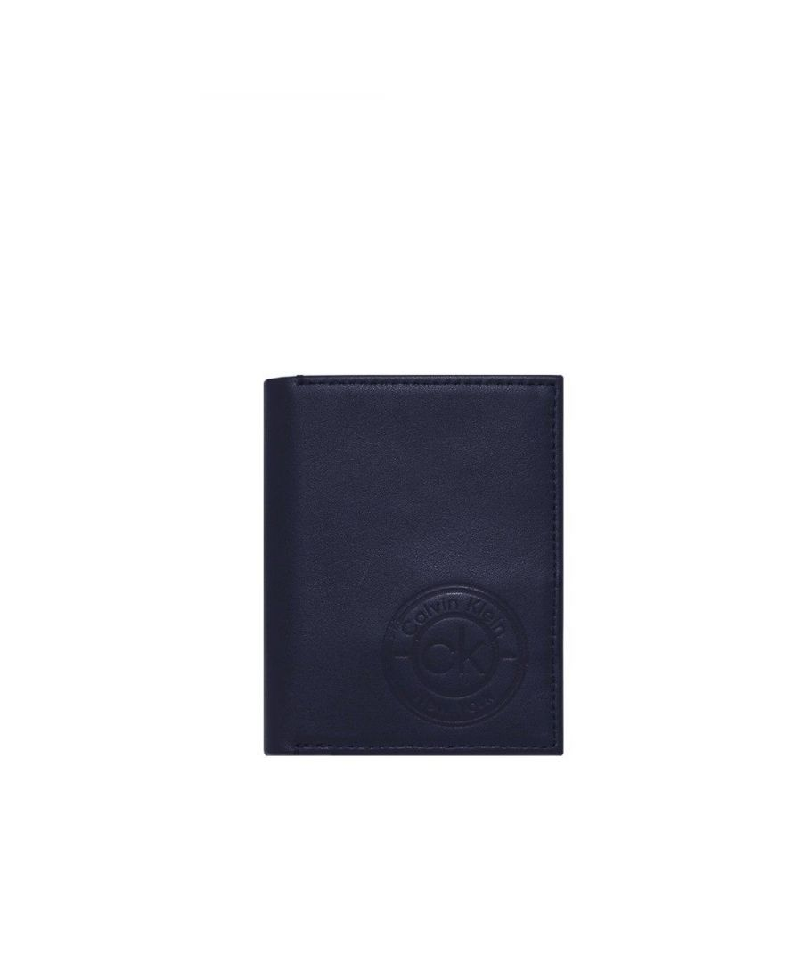 Image for CALVIN KLEIN MEN'S K50K505499CEF BLUE LEATHER WALLET