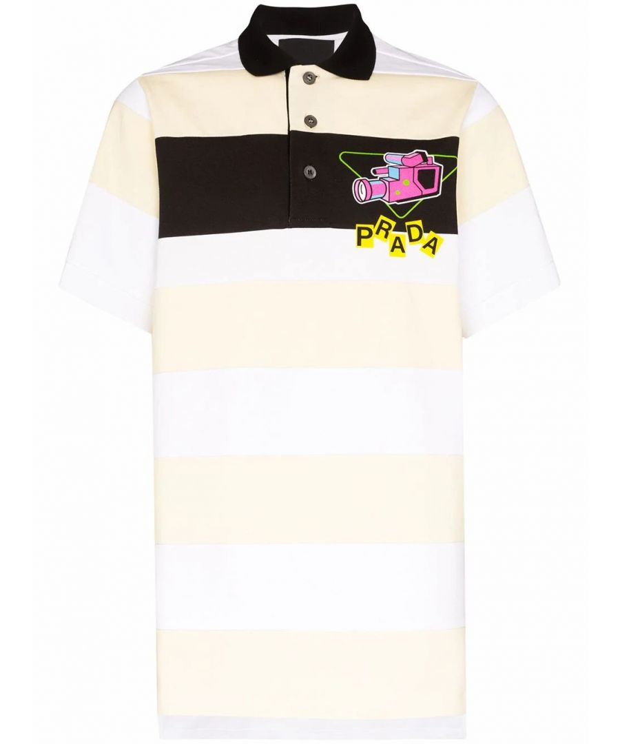 Image for PRADA MEN'S UJN640S2011WB8F0A8V YELLOW COTTON POLO SHIRT