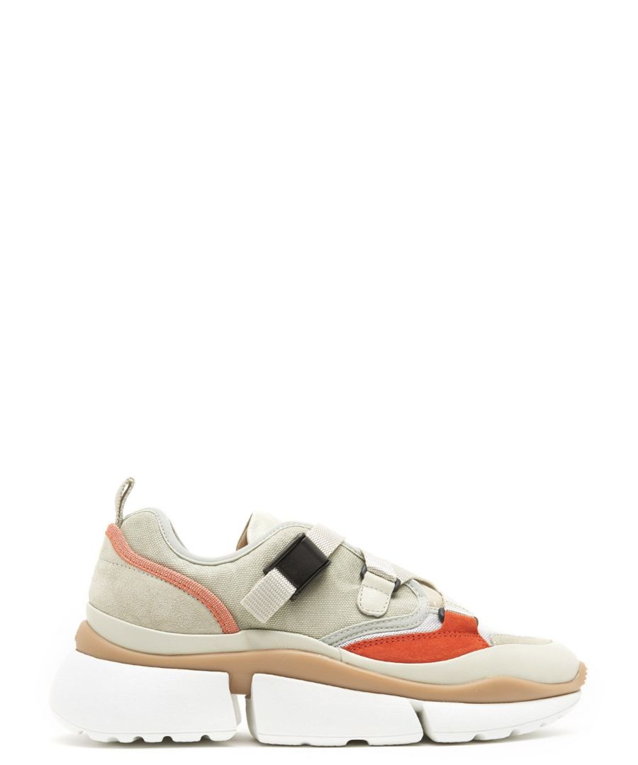 Image for CHLOÉ WOMEN'S CHC18A0511838A GREY FABRIC SNEAKERS