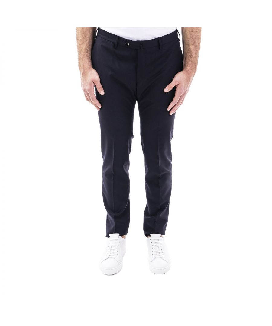 Image for PT01 MEN'S CODF01Z00DLXTR18360 BLUE WOOL PANTS