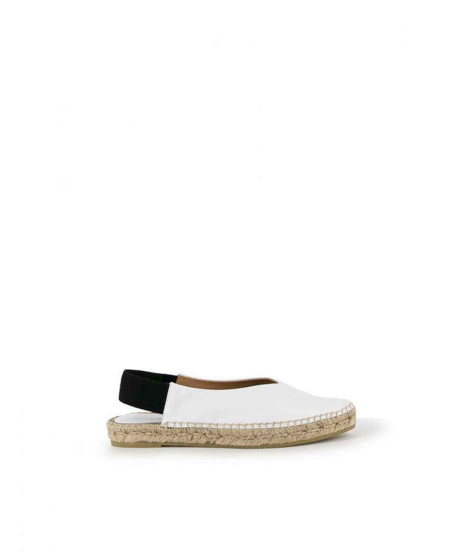 Image for PALOMA BARCELÓ WOMEN'S ANNAWHITE WHITE LEATHER ESPADRILLES