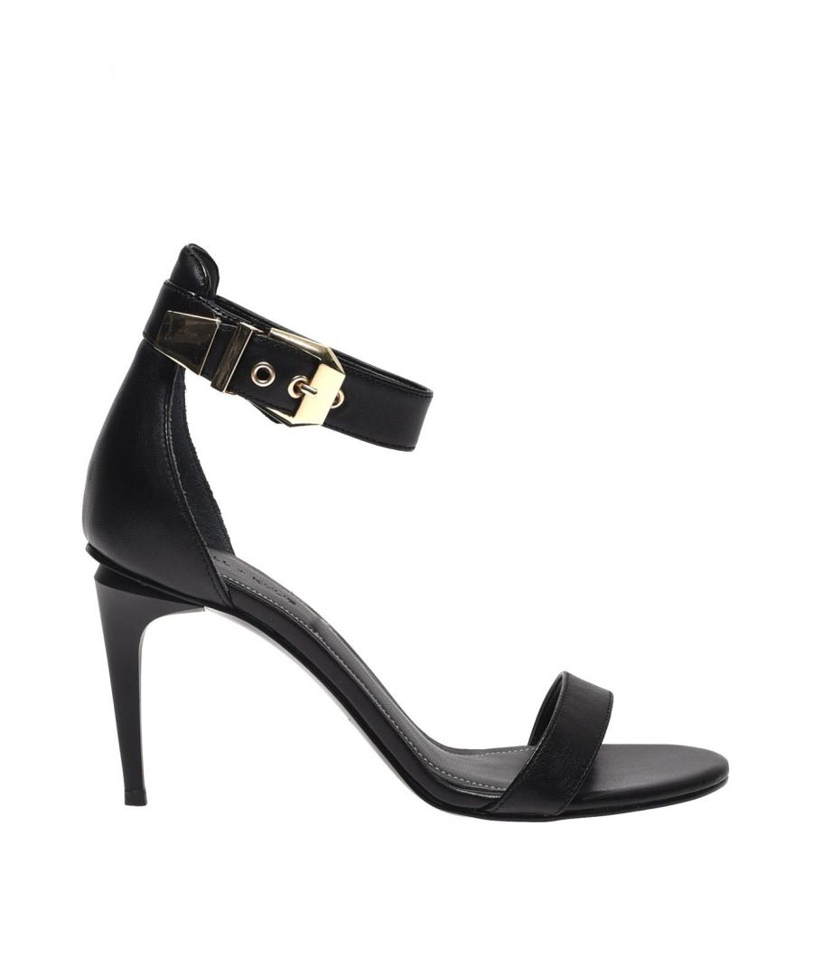 Image for KENDALL + KYLIE WOMEN'S KKMILLA01BLK BLACK LEATHER SANDALS