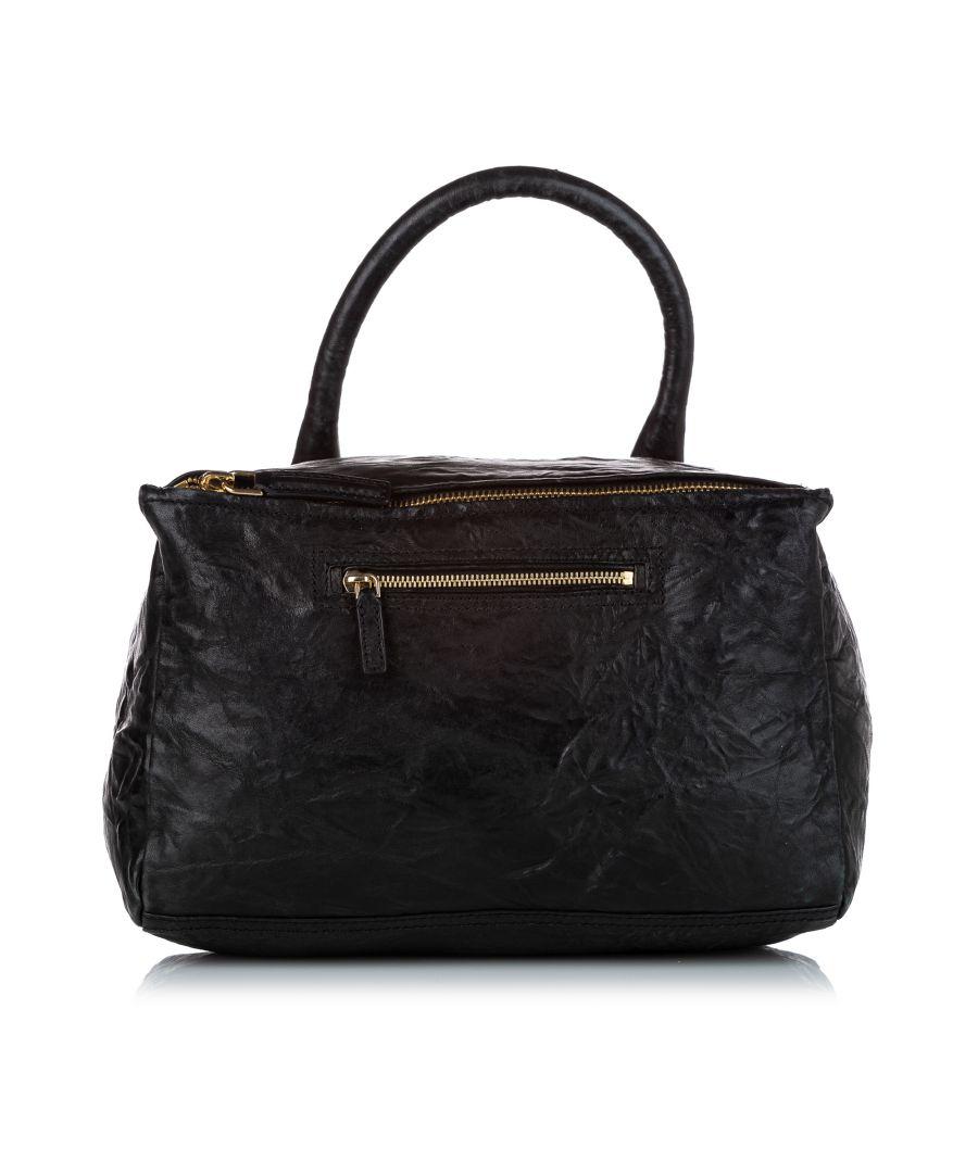 Image for Vintage Givenchy Medium Pandora Leather Satchel Black