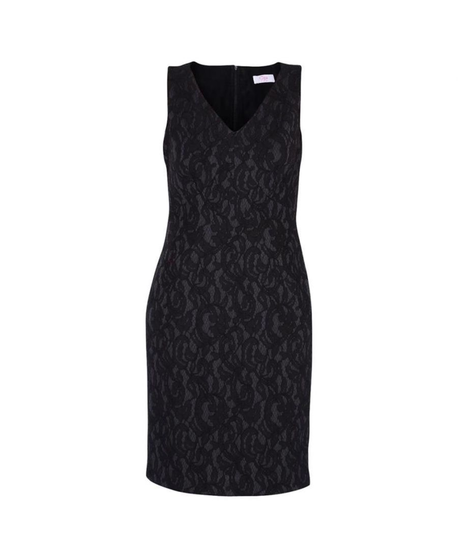 Image for CLIPS WOMEN'S G06290290001 BLACK POLYESTER DRESS