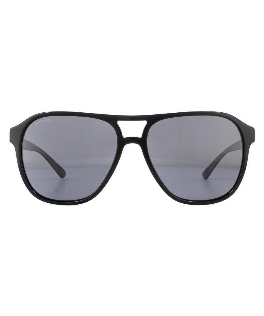 Image for Bvlgari Sunglasses BV7034 501/81 Black Grey Polarized