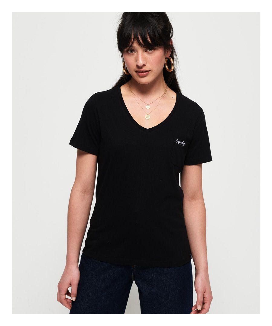 Image for Superdry Orange Label Essential Vee T-Shirt