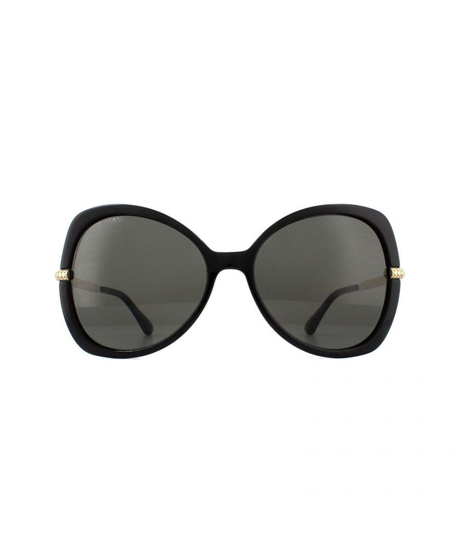 Image for Jimmy Choo Sunglasses CRUZ/G/S 807 M9 Black Grey Polarized