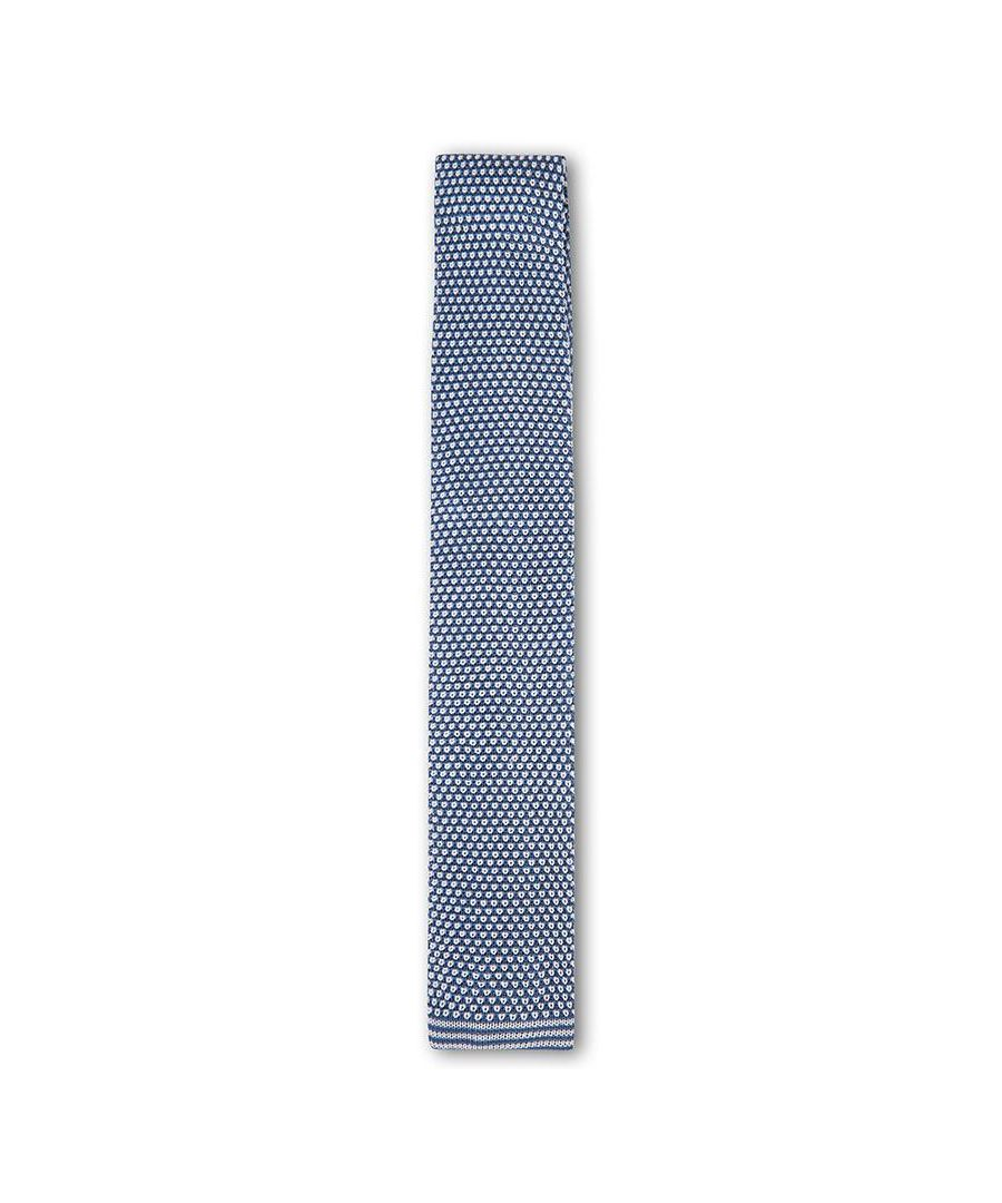 Image for Men's Hackett Knitted Neat Tie in Avio