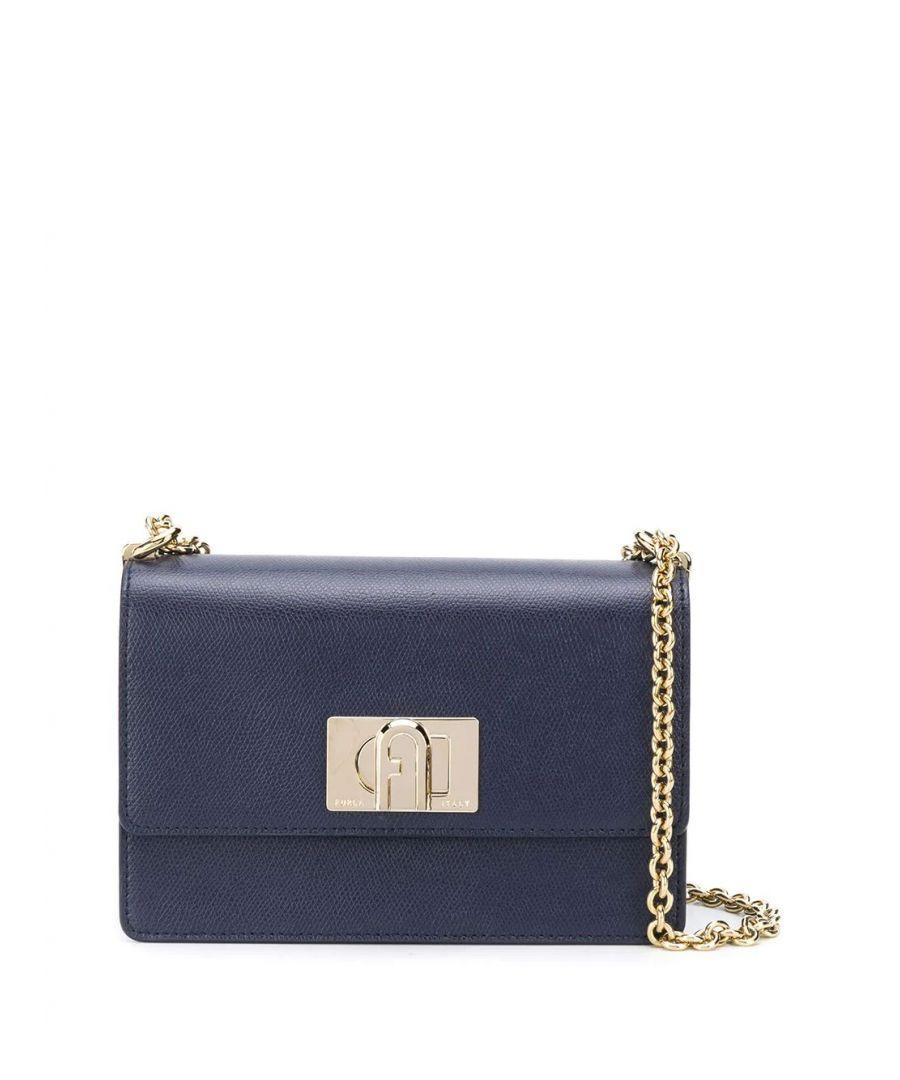 Image for FURLA WOMEN'S 1056933 BLUE LEATHER SHOULDER BAG